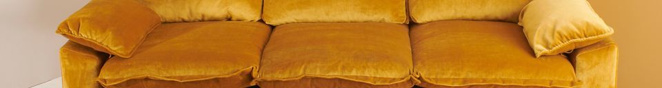 Materiali prima di tutto Vez Divano 3 posti colore ocra