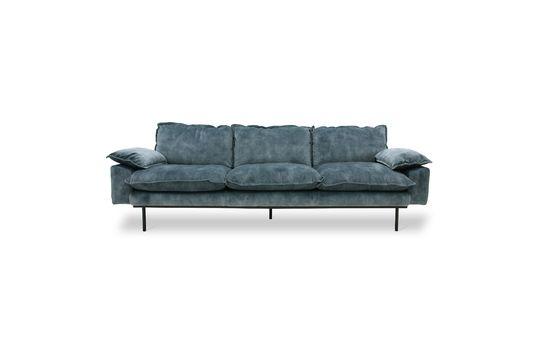 Vez divano retrò a 4 posti in blu petrolio