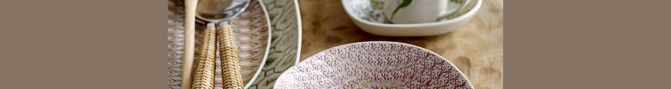 Materiali prima di tutto Viola set di piatti multicolore