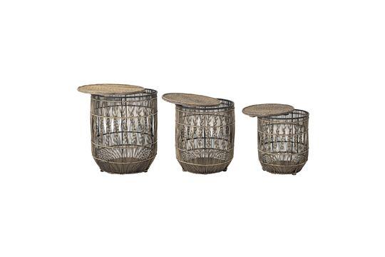 Vrocourt Tavolino in bambù Foto ritagliata