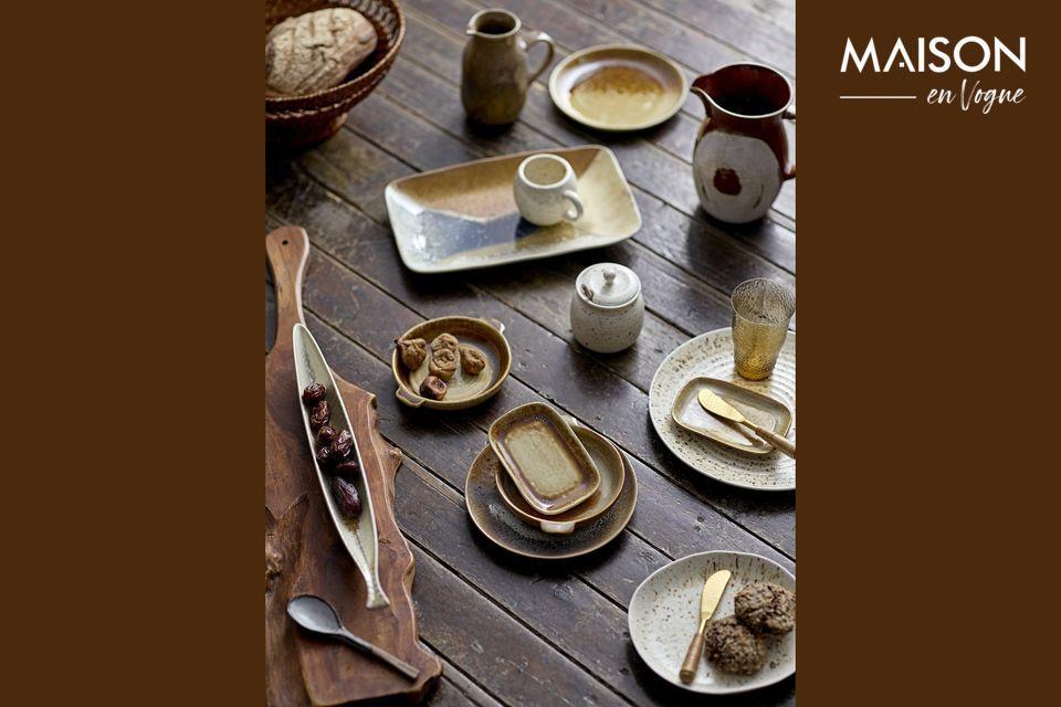 Un piatto in gres per sublimare l'artigianato a tavola